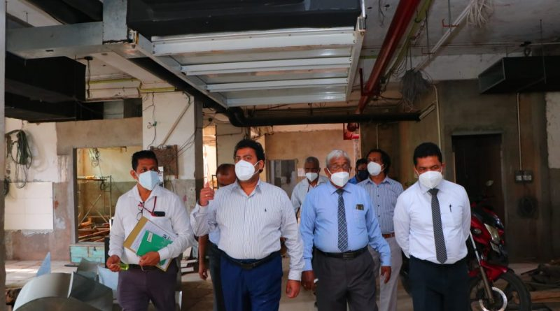 Inspection of the Millennium Ward Complex and OPD Building under construction at Colombo South Hospital